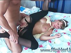 Slut feels dong in her