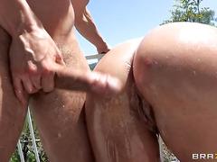 Pricking Savannah's Bubble Butt  BWB