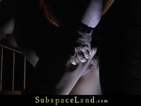 Golden-Haired slut fastened and fucked in the dead of night