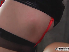 All face of this roped slut in painful pins