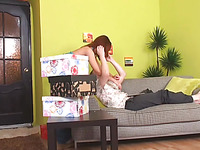 Redhead legal age teenager cutie gets fucking surprise