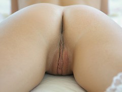 An amazing butt cheeks of slut are spread by tasty large penis