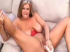 BBW and her toys have solo sex