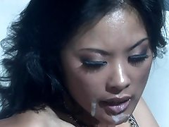 Drunk Asian Kaylani Lei Gets Fucked and Facialized By A Stranger