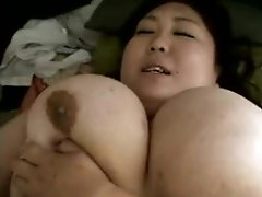 Fat Japanese girl with huge boobs