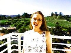 Hot campus slut with glasses