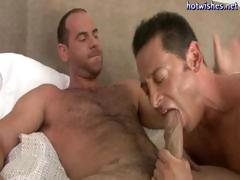 Horny gay dude loves slurping on a big cock and then getting drilled in his ass