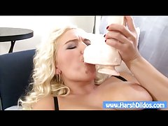 Blonde slut showing her skills