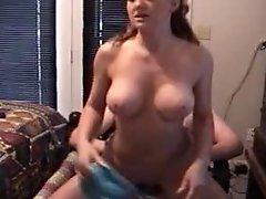 Mom fucks young cum inside