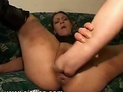 Extreme vaginal fist fucked slut