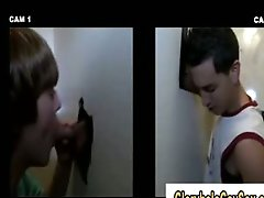 Young straight boy duped at gloryhole