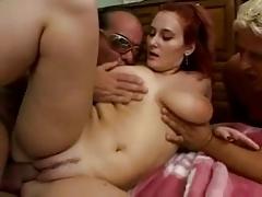 Busty redhead pornstar fucked