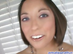 Flexible Legal Age Teenager Sweetheart Blows 10-Pounder To Swallow Cum