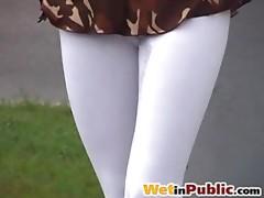 Public wet leggings