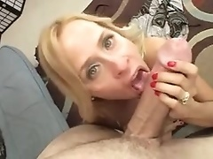 10-Pounder is thick for the shaved milf pussy